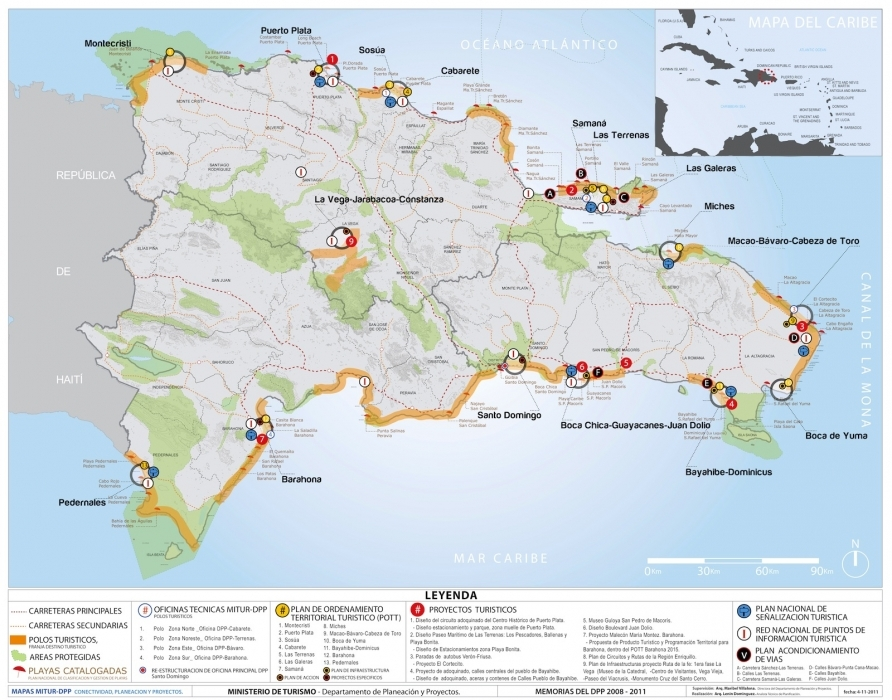 Map Dominican Republic Samana